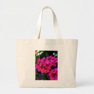 Rosa Sommer-Blumen-Foto auf verschiedenen Jumbo Stoffbeutel