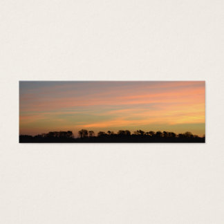Rosa Sonnenaufgang Mini Visitenkarte