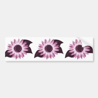 Rosa Sonnenblume mit Marienkäfern Autoaufkleber