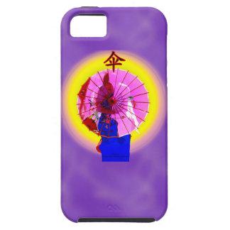Rosa Sonnenschirm-Telefonkasten iPhone 5 Hülle