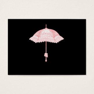 Rosa Sonnenschirm Visitenkarte