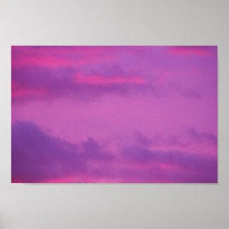 Rosa Sonnenuntergang-Himmel, Ohio Poster