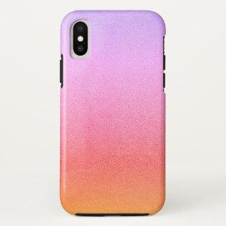 Rosa Sorbett-Glitzer-Sand-visuelle Beschaffenheit iPhone X Hülle