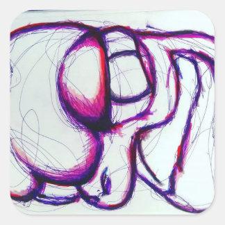 Rosa Spectralis durch Helle Quadratischer Aufkleber