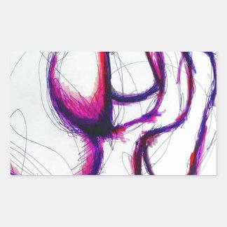 Rosa Spectralis durch Helle Rechteckiger Aufkleber