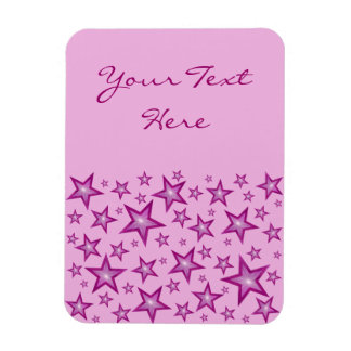 "Rosa spielt ""den vertikalen Text"" erblassen - rosa Magnet"