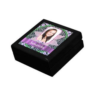 Rosa Spitze-Fotohintergrund Geschenkbox