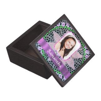Rosa Spitze-Fotohintergrund Kiste