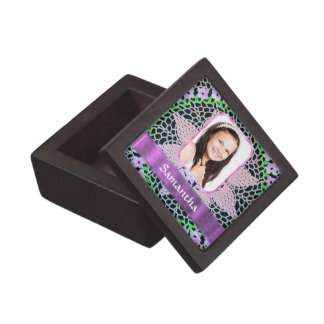 Rosa Spitze-Fotohintergrund Schachtel