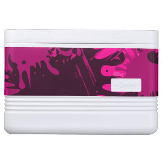 Rosa Splattered Farbe Kühlbox