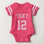 Rosa Sport-Jersey-Entwurf des Baby-| Babybody