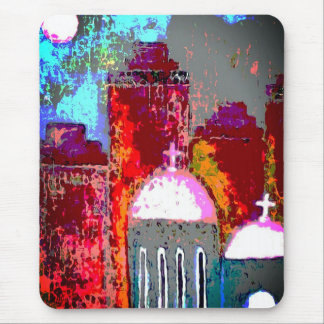 Rosa Stadt-Kirche Mousepad