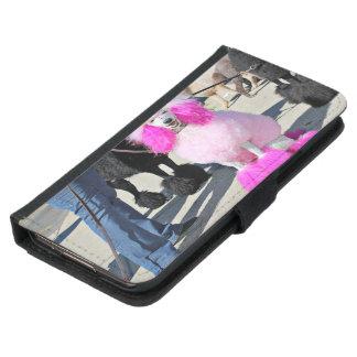 Rosa Standardpudel des Pudel-Tag2016 - Barnes - Samsung Galaxy S5 Geldbeutel Hülle