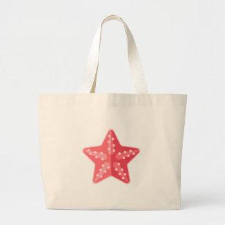 Rosa Starfish-Primitiv-Art Jumbo Stoffbeutel