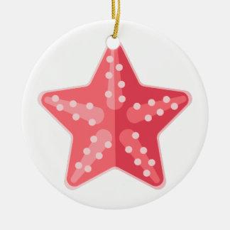 Rosa Starfish-Primitiv-Art Keramik Ornament