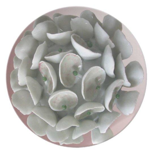 Rosa Staubgefäss-Platte Melaminteller