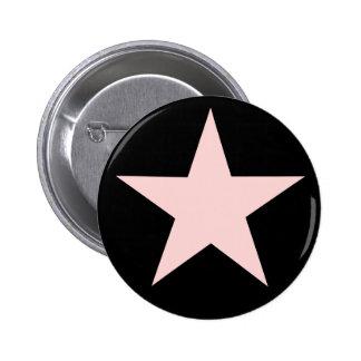 Rosa Stern-Knopf Runder Button 5,7 Cm