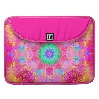 Rosa Sterne u. Blasen-Fraktal-Muster Sleeve Für MacBook Pro