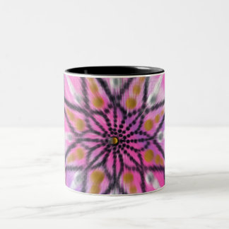 Rosa Sternexplosionblumenmandala-Keramik-Tasse Zweifarbige Tasse