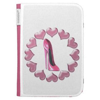 Rosa Stilettschuhkunst und -herzen iPad Fall
