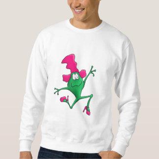 Rosa Stilletto glücklicher Frosch Sweatshirt