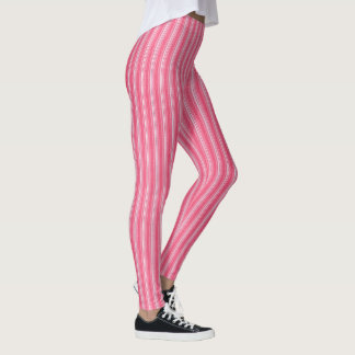 Rosa Streifen-Gamaschen Leggings