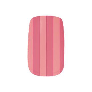Rosa Streifen Minx Nagelkunst