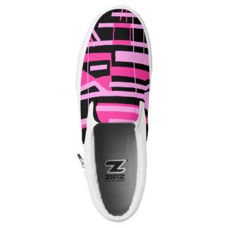Rosa Streifen und Linien zipz Slip-On Sneaker