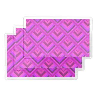 Rosa Streifenskalamuster Acryl Tablett
