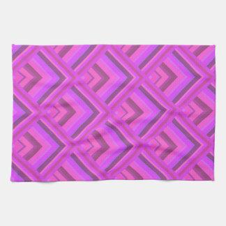 Rosa Streifenskalamuster Handtuch