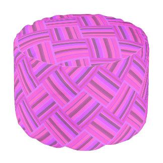Rosa stripes diagonales Webartmuster Hocker