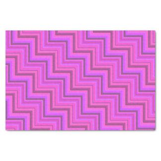 Rosa stripes Treppenmuster Seidenpapier