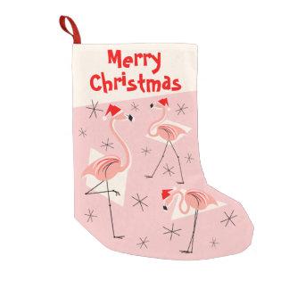 Rosa Strumpf froher Weihnachten Flamingo-Sankt Kleiner Weihnachtsstrumpf