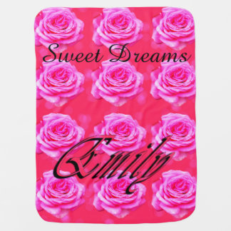 Rosa süße Traum-Emily-Logo, Baby-Decke Puckdecke