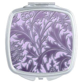 Rosa Süßigkeits-Distel Taschenspiegel