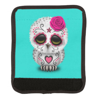 Rosa Tag der toten Baby-Eule Gepäckgriff Marker