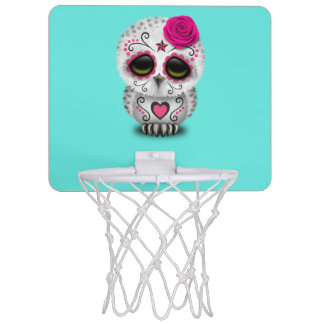 Rosa Tag der toten Baby-Eule Mini Basketball Netz