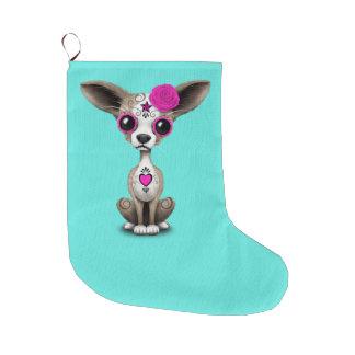 Rosa Tag der toten Chihuahua Großer Weihnachtsstrumpf