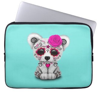Rosa Tag des toten Baby-Eisbären Laptop Sleeve