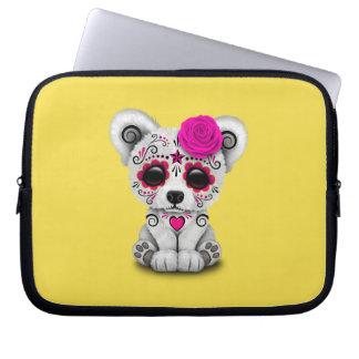 Rosa Tag des toten Baby-Eisbären Laptopschutzhülle
