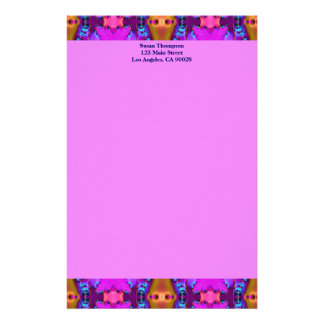rosa tan Muster Personalisiertes Büropapier