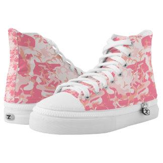 Rosa Tarnung Hoch-geschnittene Sneaker