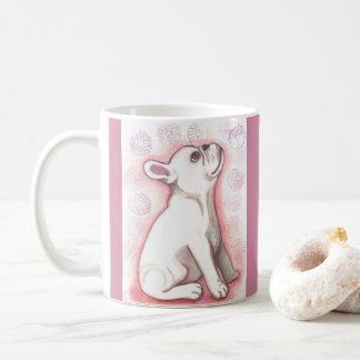 Rosa Tasse der französischen Bulldogge