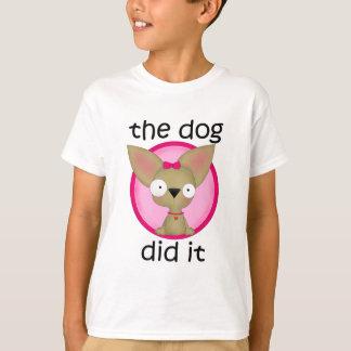 (Rosa) tat der Hund es T-Shirt