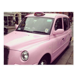 Rosa Taxi-Postkarte Postkarte