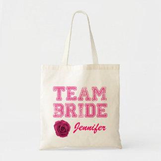 Rosa Team-Braut-Taschen-Tasche Budget Stoffbeutel