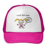 Rosa Tennis-Kappe/Hut mit kundengerechtem Druck Kult Cap