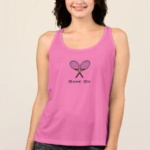 Rosa Tennis-Trägershirt Spiel an Tank Top