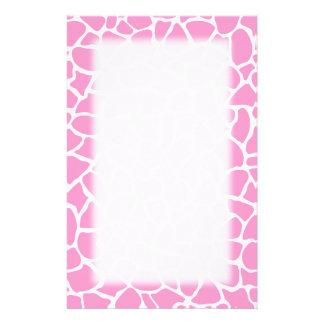 Rosa Tierdruck-Giraffen-Muster Individuelles Druckpapier