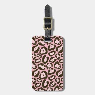 Rosa Tierdruck-Muster Kofferanhänger